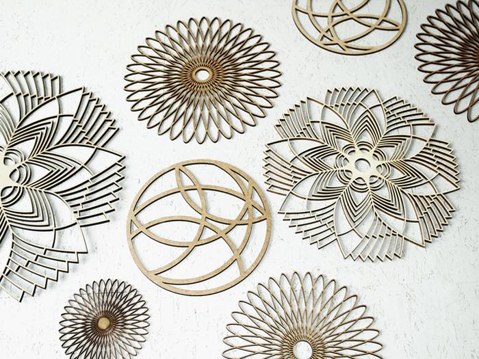 Spiralornament Holz