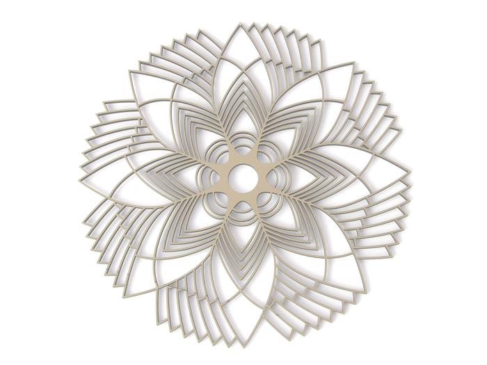 Blumenornament Holz