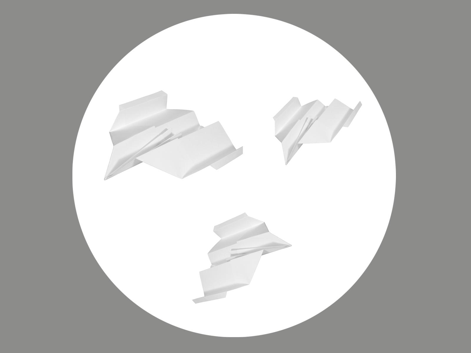 Blendermotiv Papierflieger