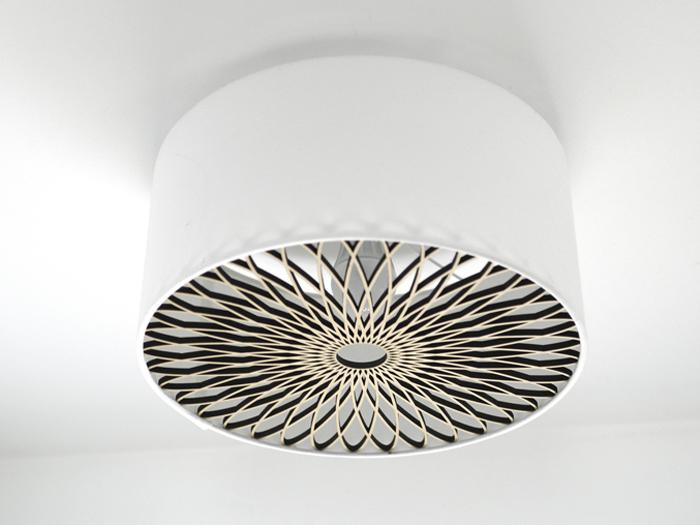 Deckenlampe Spiralornament natur