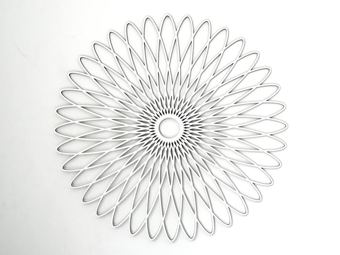 Spiralornament weiss