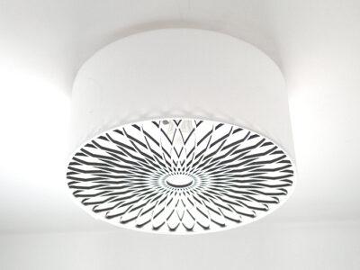 Deckenlampe Spiralornament weiss