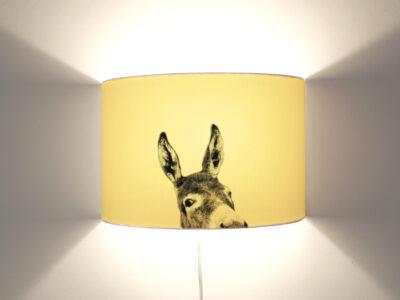 Esel_gelb Wandlampe-0