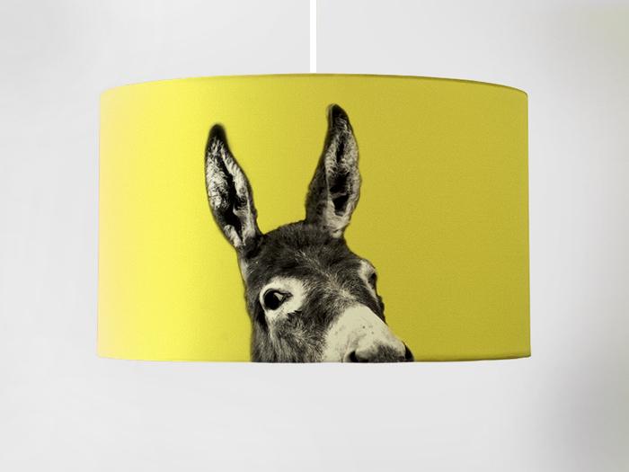 Motivlampe Esel gelb