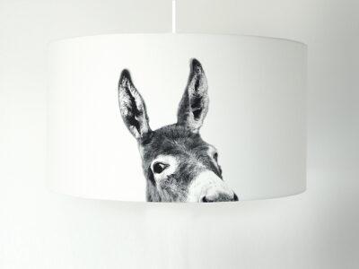 Motivlampe Esel weiss