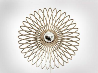 Spirale Wandlampe natur
