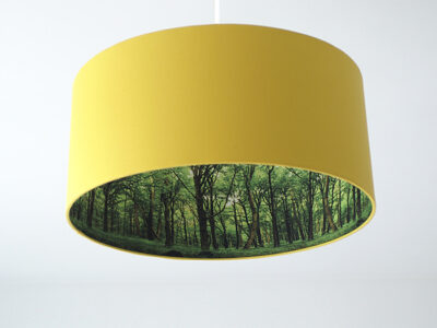 Wald-Inside Motivlampe dunkelgelb