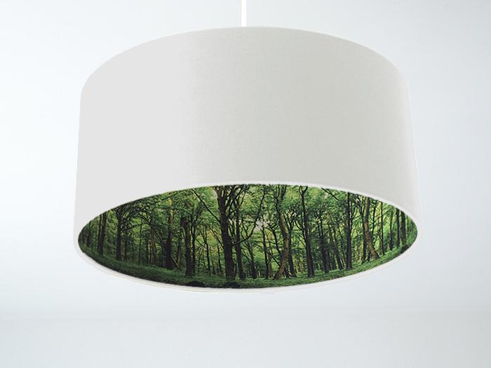 Wald-Inside Motivlampe weiss
