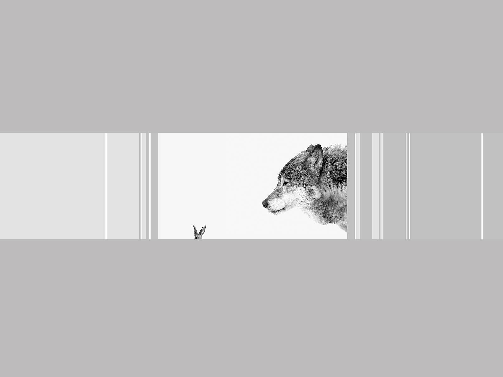Motivlampe Wolf