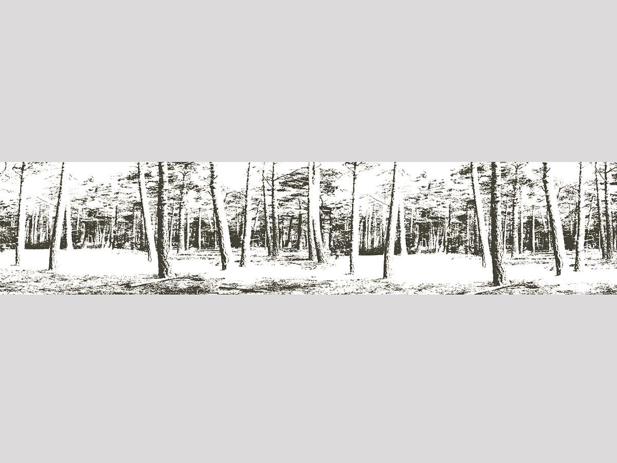 Motiv Schwedenwald schwarz