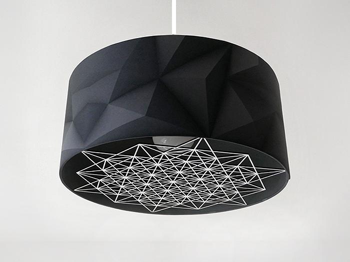 Hängelampe 3D black mit Sternornament