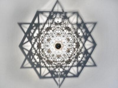 Schattenwandlampe Stern