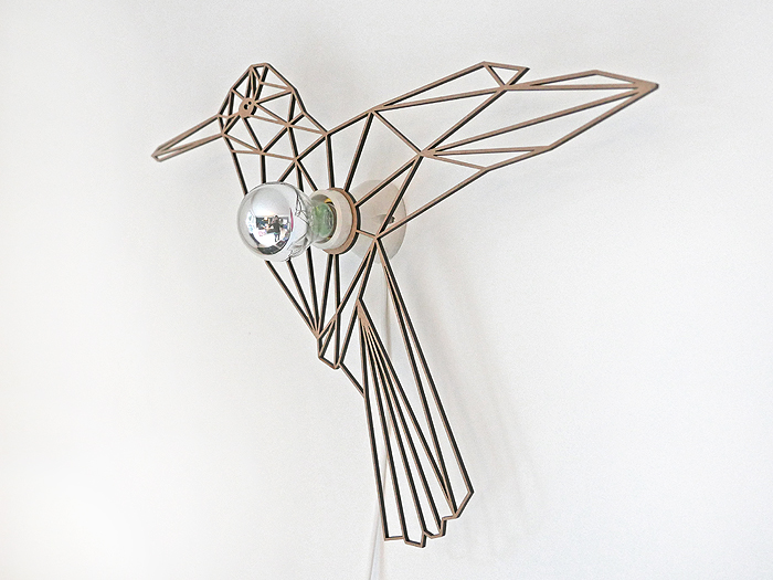 Vogel Schattenwandlampe-399
