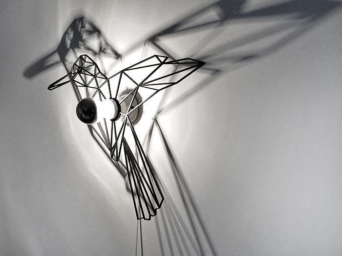 Vogel Schattenwandlampe-396