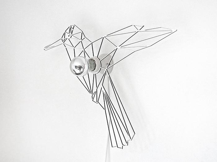 Vogel Schattenwandlampe-398