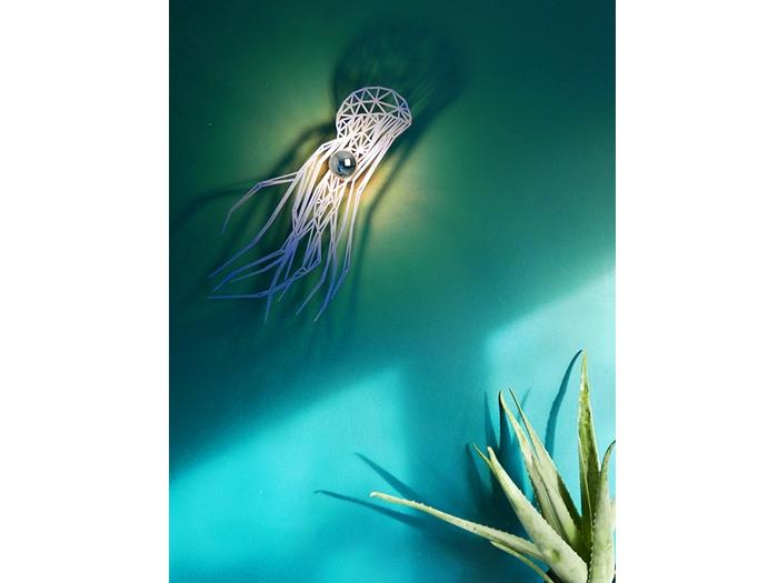 blaue Qualle Schattenwandlampe-567