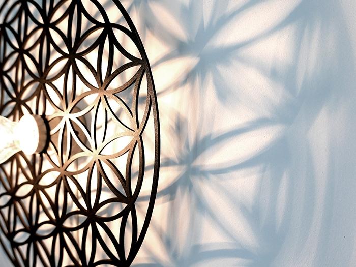 Blume des Lebens Wandlampe-577