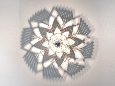 Grafikblume Wandlampe-0