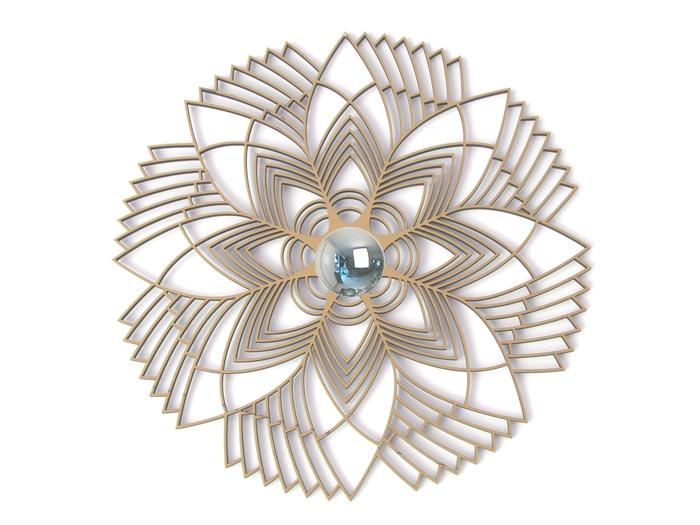 Grafikblume Wandlampe-602