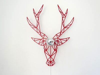 roter Hirsch Schattenwandlampe-561