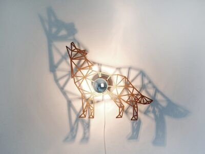 Hund Schattenwandlampe-0