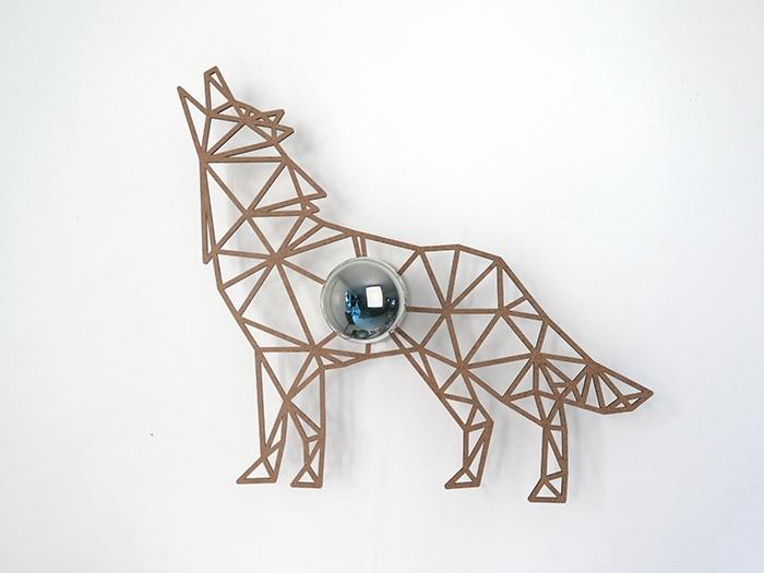 Hund Schattenwandlampe-583