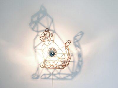 Katze Schattenwandlampe-0