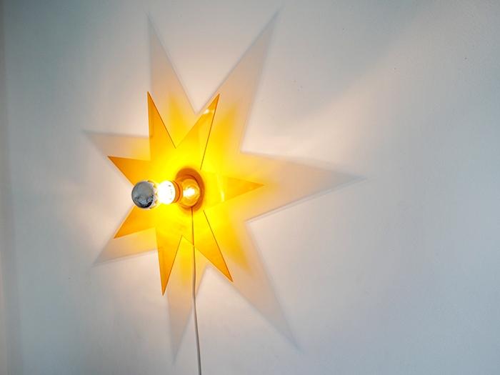 Lichtstern orange-607