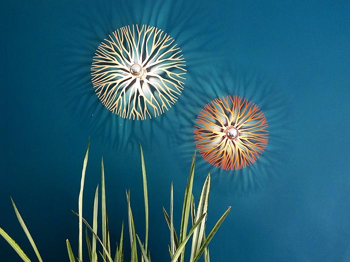 Koralle farbig Wandlampe-639