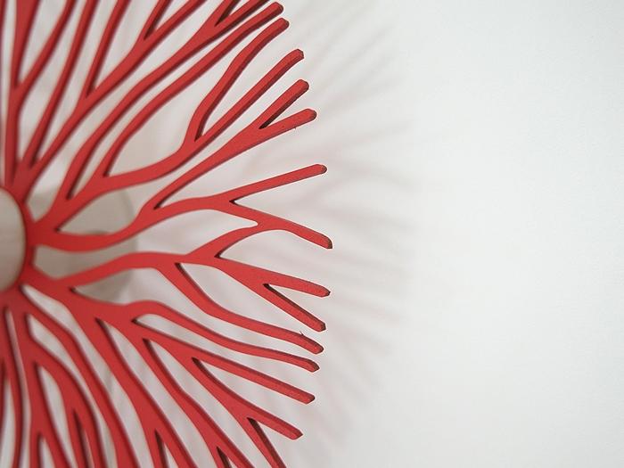 Koralle farbig Wandlampe-641