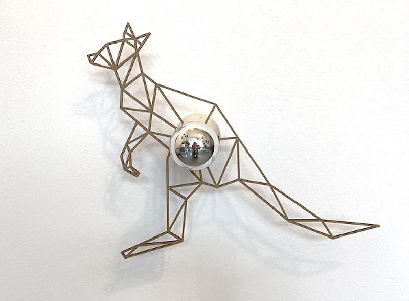 Känguru Schattenwandlampe-1637