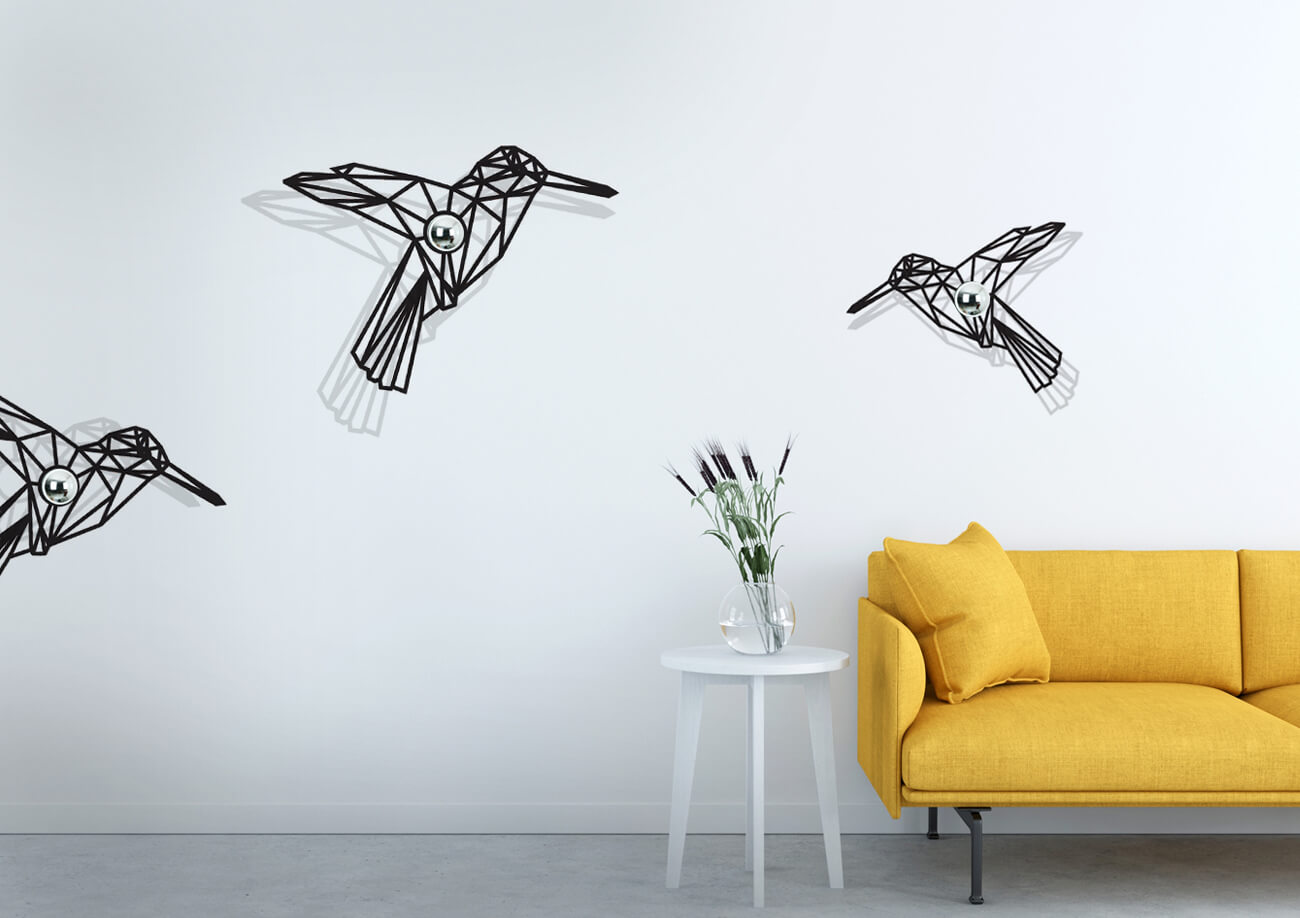 Schattenwandlampen Vögel von Halbeins